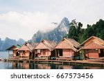floating house  a place for... | Shutterstock . vector #667573456