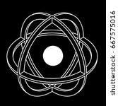 atom part on black background.... | Shutterstock .eps vector #667575016