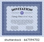blue vintage invitation. lovely ...
