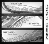 vector automotive banners... | Shutterstock .eps vector #667595512