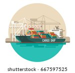 delivery service concept.... | Shutterstock .eps vector #667597525