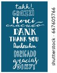 thank you in different... | Shutterstock .eps vector #667605766
