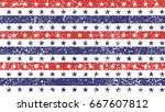 4th of july stars and stripes... | Shutterstock .eps vector #667607812