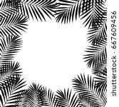 summer tropical palm tree... | Shutterstock .eps vector #667609456