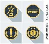 set film award for best film.... | Shutterstock .eps vector #667616656