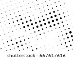 abstract halftone dotted... | Shutterstock .eps vector #667617616