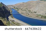 view on the euphrates river in... | Shutterstock . vector #667638622