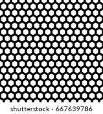 honeycomb wallpaper. repeated... | Shutterstock .eps vector #667639786
