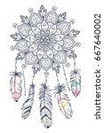 hand drawn illustration of... | Shutterstock .eps vector #667640002