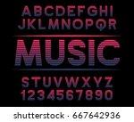 decorative font music design...   Shutterstock .eps vector #667642936