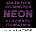 decorative font music design... | Shutterstock .eps vector #667642948