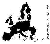 european union territory black... | Shutterstock .eps vector #667646245