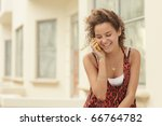 woman talking on the phone | Shutterstock . vector #66764782