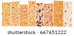 granola bars with cereals and... | Shutterstock . vector #667651222