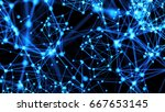 abstract connected dots....   Shutterstock . vector #667653145