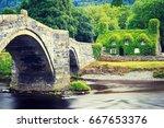 stone bridge across the river...