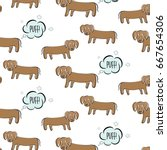 funny vector dachshund... | Shutterstock .eps vector #667654306