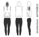 blank clothing templates.... | Shutterstock .eps vector #667658812