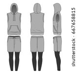 blank clothing templates.... | Shutterstock .eps vector #667658815