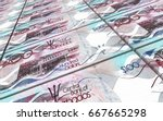 Barbadian Dollar Bills Stacked...
