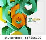 vector 3d effect hexagon...