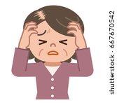 senior women suffering from... | Shutterstock .eps vector #667670542
