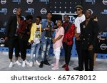 Small photo of LOS ANGELES - JUN 25: Guest, Caleb McLaughlin, Myles Truitt, Jahi DiAllo Winston, Dante Hoagland, Tyler Marcel Williams at the BET Awards at the Microsoft Theater on June 25, 2017 in Los Angeles, CA