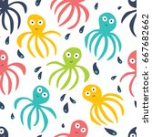 simple seamless pattern with... | Shutterstock .eps vector #667682662