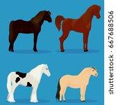 set of horses | Shutterstock .eps vector #667688506