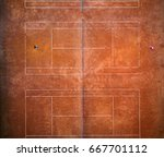 aerial view of the tennis court.... | Shutterstock . vector #667701112