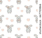 seamless pattern with cute...   Shutterstock .eps vector #667703866