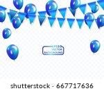 blue balloons  vector... | Shutterstock .eps vector #667717636