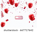 red balloons  vector... | Shutterstock .eps vector #667717642