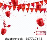 Red Balloons  Vector...