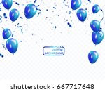 blue balloons  vector... | Shutterstock .eps vector #667717648