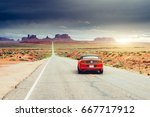 monument valley  utah  usa june ... | Shutterstock . vector #667717912