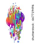 abstraction of modern style... | Shutterstock .eps vector #667719496