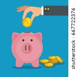 save money concept | Shutterstock .eps vector #667722376