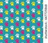 dog stuff seamless pattern   Shutterstock .eps vector #667725868