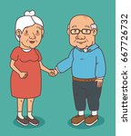 happy grandparents day | Shutterstock .eps vector #667726732
