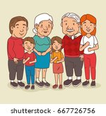 happy grandparents day | Shutterstock .eps vector #667726756
