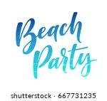 Beach Party Lettering. Retro...
