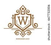 monogram logo template with...   Shutterstock .eps vector #667732006