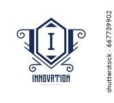 monogram logo template with...   Shutterstock .eps vector #667739902