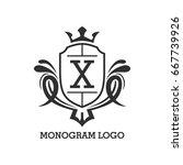 monogram logo template with...   Shutterstock .eps vector #667739926