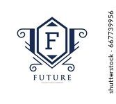 monogram logo template with...   Shutterstock .eps vector #667739956
