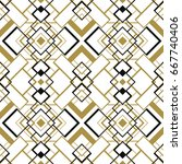 seamless geometric art deco... | Shutterstock .eps vector #667740406