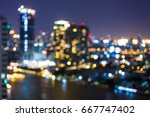 city view at night  blur... | Shutterstock . vector #667747402