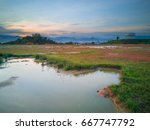 sunrise view from ipoh with... | Shutterstock . vector #667747792
