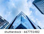 modern office building detail ... | Shutterstock . vector #667751482
